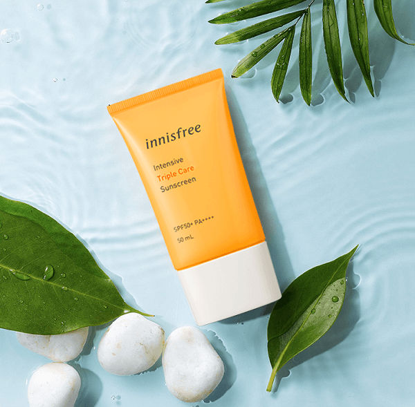 kem chống nắng triple care của innisfree review