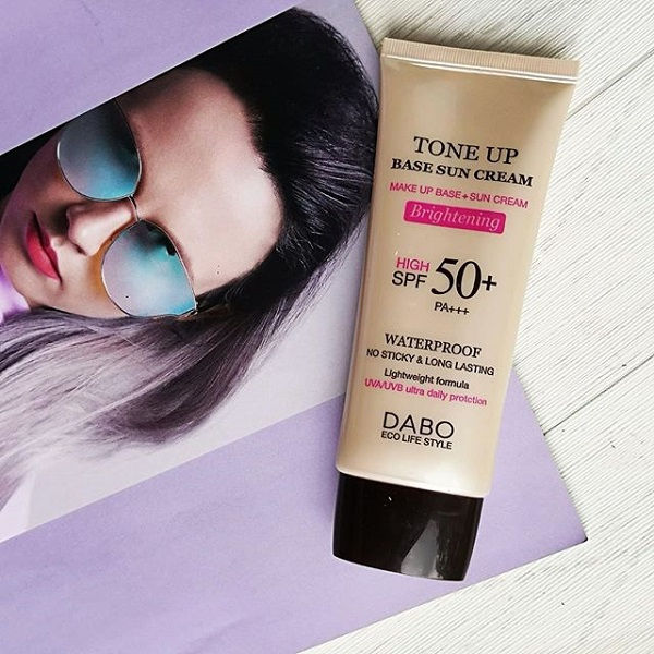 Kem chống nắng Dabo Tone Up Base Sun Cream SPF 50 PA+++ review