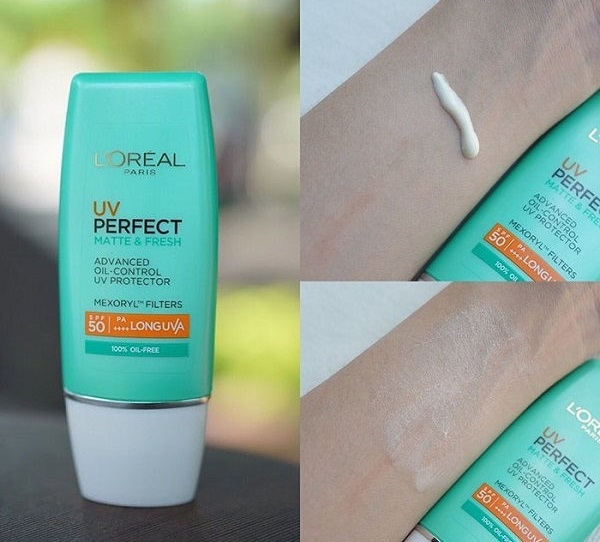 texture KCN L'Oréal Paris UV Perfect Matte & Fresh SPF50+ PA++++